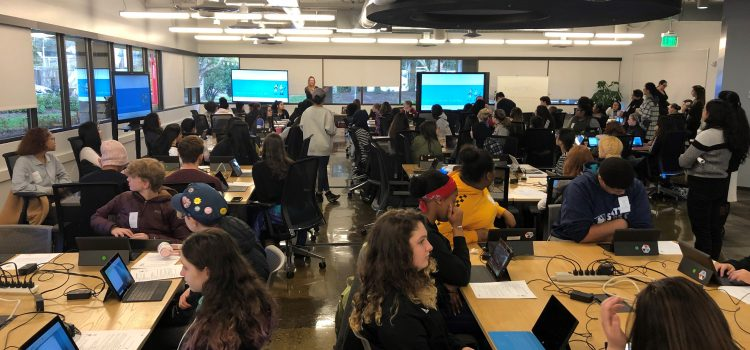 Microsoft Coding Workshop with Franklin Pierce HS, Nova HS, and Hazen HS